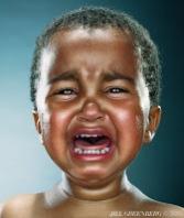 Enfant malade en Afrique