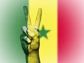 Drapeau sénégalais et paix