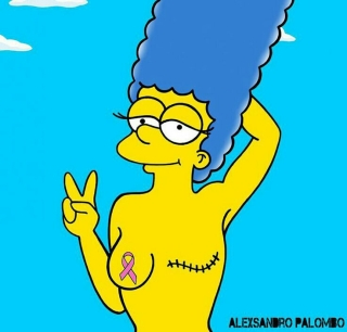 Marge Simpson lutte contre le cancer