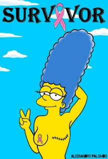 Marge Simpson Octobre Rose