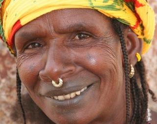 Femme peule souriante