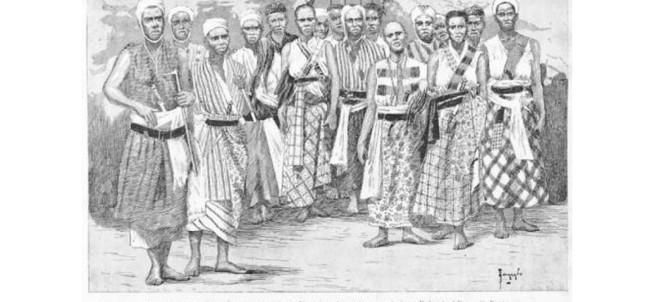 Illustration montrant des hommes et des femmes du royaume de Dahomey